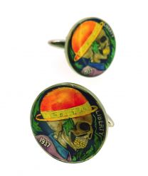 Gemelos para Camisa Hobo Coin Skull with Bombin Hat