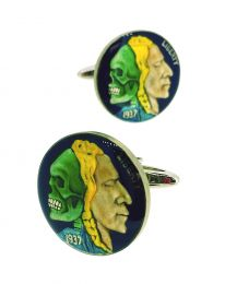 Gemelos para Camisa Hobo Coin Two Indian Heads