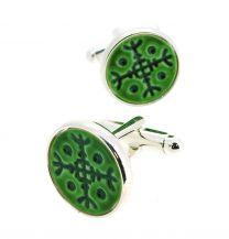 Gemelos para Camisa Kimu Runa de la Fortaleza Color Verde