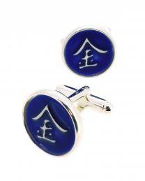Gemelos para Camisa Kimu Runa de la Fortuna Color Azul