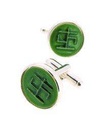 Gemelos para Camisa Kimu Runa de la Salud Color Verde