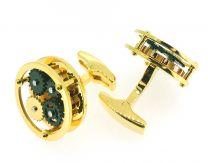 Gemelos para Camisa Mecanismo Golden Steampunk Mod I