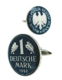Gemelos para Camisa Moneda Original Deutsche Mark Azul