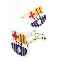 Gemelos para Camisa plata de ley Esmaltada FC Barcelona Producto Oficial