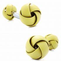 Gemelos para Camisa Rawjco Double Enamel Yellow Knot