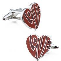 Gemelos para Camisa Red Love Heart