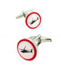Gemelos para Camisa Rounded Señal Helicóptero