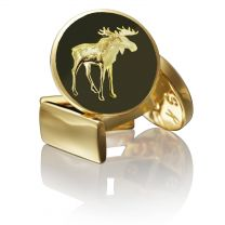 Gemelos para Camisa Skultuna Hunter Series The Moose - Serie Cazador Alce Dorado