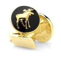 Gemelos para Camisa Skultuna Hunter Series The Moose - Serie Cazador Alce Dorado Negro