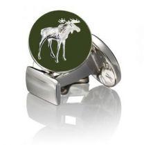 Gemelos para Camisa Skultuna Hunter Series The Moose - Serie Cazador Alce Plateado