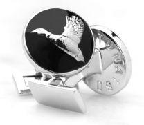 Gemelos para Camisa Skultuna Hunter Series The The Duck - Serie Cazador Pato Plateado Negro