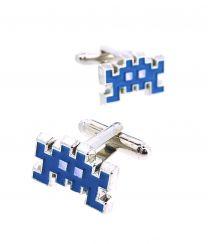 Gemelos para Camisa Space Invaders 8 bits Blue