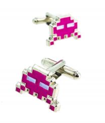 Gemelos para Camisa Space Invaders 8 bits Fucsia