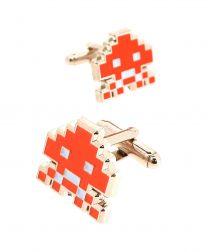 Gemelos para Camisa Space Invaders 8 bits Orange