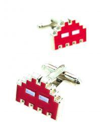 Gemelos para Camisa Space Invaders 8 bits Red