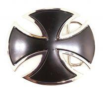 Hebilla de Cinturón Cruz Malta Ovalada 9x7,5cm