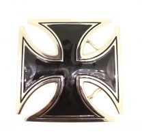 Hebilla de Cinturón Cruz Malta Rectangular 8x8cm