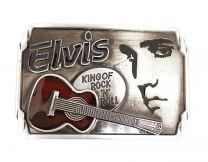 Hebilla de Cinturón Elvis King of Rock 'N' Roll Acero 9cm