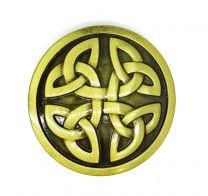 Hebilla de Cinturón Motivos Célticos Dorado 6,5cm