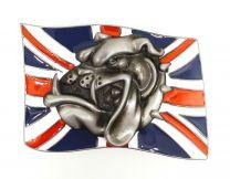 Hebilla de Cinturón Union Jack  Bulldog 8x5,5cm