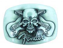 Hebilla de Cinturón Fender Cross Guitars & Skull