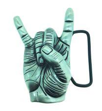 Hebilla de Cinturón Saludo Heavy Metal