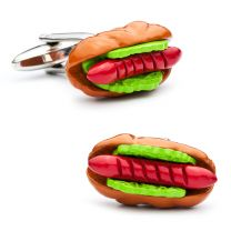Gemelos para camisa Hot Dog Perrito Caliente
