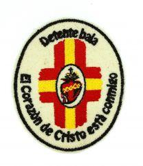 Parche recreación historica Detente bala corazón de cristo españa 9,5x8cm