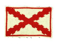 Parche recreación historica Bandera cruz borgoña 8,5x5,5cm