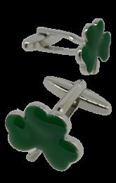 Gemelos de Camisa Trebol Verde 15x15mm