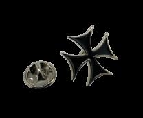 Pin de Solapa Cruz de Malta Black 20mm