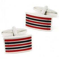 Gemelos Beour Red & Black Stripes
