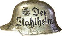 "Insignia Broche Casco Alemán ""Der Stahlhelm"" Organizacion de Veteranos Alemana 3cm Recreacion Historica- Replica Militar"