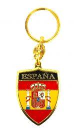 Llavero Bandera España en Escudo
