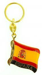 Llavero Bandera España Ondeada