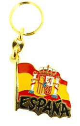 Llavero Bandera España Ondeada Letras