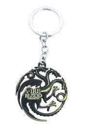 Llavero Escudo Casa Targaryen Bronze