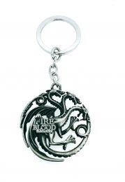 Llavero Juego de Tronos Casa Targaryen Acero 3D
