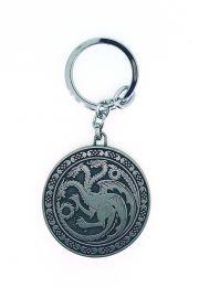 Llavero Juego de Tronos Casa Targaryen Rounded Acero