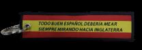 Llavero Lona Don Blas de Lezo Inglaterra 13x3 cm