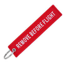 Llavero Remove Before Flight Rojo