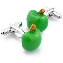 Gemelos para camisa Manzana Color Verde
