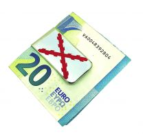 Money Clip Pinza de Billetes Bandera de la Cruz de Borgoña San Andrés
