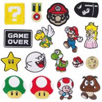 Pack 17 Parches Termoadhesivos Mario Bros Ideal Mascarillas