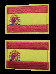 Pack 2 Parches Termoadhesivos Bandera España 6x3,8cm