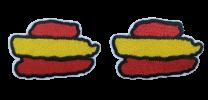 Pack 2 Parches Termoadhesivos Bandera España a Rayas 5,5cm