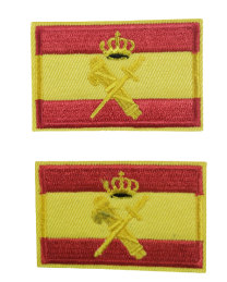 Pack 2 Parches Termoadhesivos Bandera España Guardia Civil 6x3,8cm