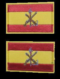 Pack 2 Parches Termoadhesivos Bandera España Legion 6x3,8cm