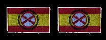 Pack 2 Parches Termoadhesivos Bandera España Lema Tercios de Flandes 8x5cm