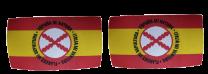 Pack 2 Parches Termoadhesivos Bandera España Lema Tercios de Flandes mod 2 8x4,5cm